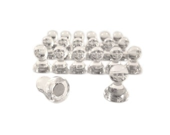 Strong Clear Magnetic Pins / Magnetic Push Pins / Magnetic Pegs / Refrigerator Magnets