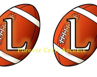 Football Party Banner Letters & Numerals - Digital Download