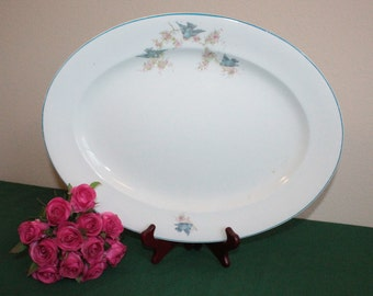 Bluebird Ceramic Platter – Over-sized – Marked Westend