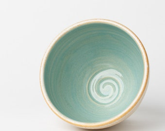EVERYTHING BOWL // bowl ceramic bowl pottery bowl cereal bowl ice cream bowl soup bowl handmade bowl light blue  turquoise blue aqua