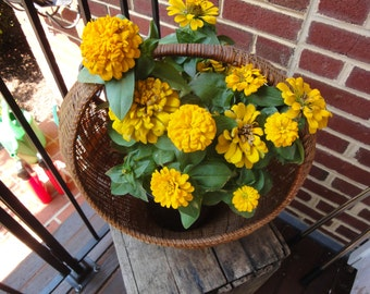 Vintage Home Decor/Vintage Baskets/Vintage Flower Baskets/Vintage Decoratinging