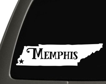 Memphis Tennessee State Sticker For Car Window, Bumper, Or Laptop