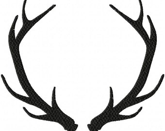 Machine Embroidery Design - Instant Download Antlers