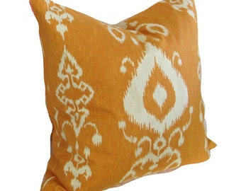 "Kravet ""Pantan"" Fabric pillow, Orange, Ikat, Kilm, Southwest Design"