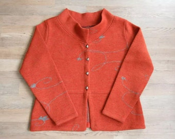 In-Wild Norwegian Sweater with leather, made in Norway XL