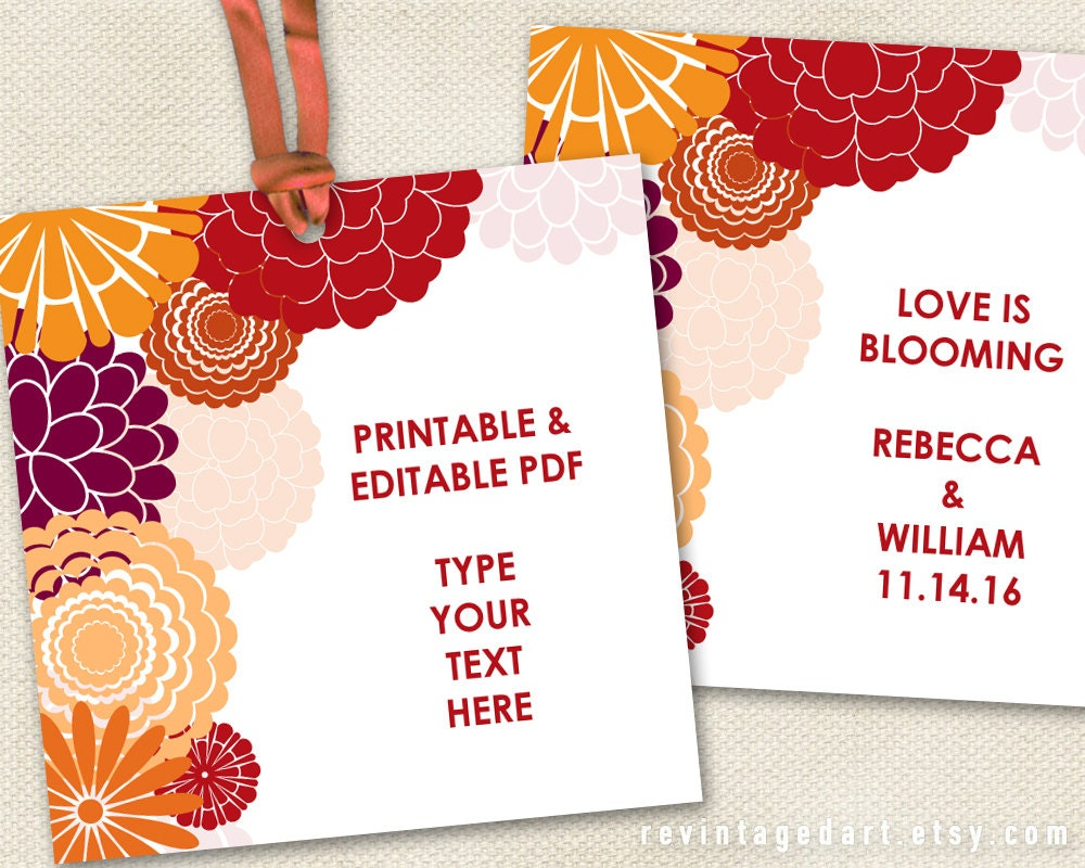 printable floral gift tags autumn tags fall tags autumn. Black Bedroom Furniture Sets. Home Design Ideas