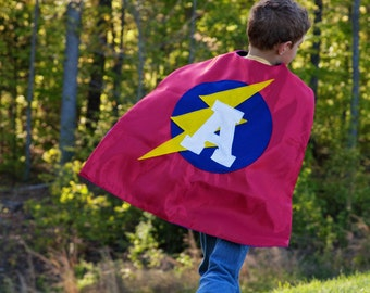 Kids Custom Halloween Costume - Boys Superhero Cape - Kids Capes - Brother Capes - Photo Prop - Free Mask - Ships Quickly