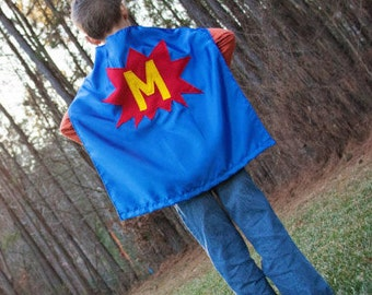Affordable Capes - Personalized Child Cape - Kids Initial Capes - Superhero Cape with Initial - Capes for Children - Superhero Birthday Gift