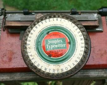 Vintage Classic Special Simplex Typewriter number 150