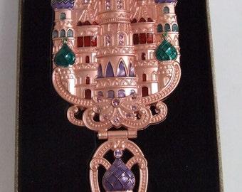 """Handmade Russian Enameled Mirror """"Churches Design"""""""