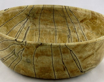 Fruit bowl or service made from Spalted Maple apprx. 9 in. x 3 in. item number: ES0415-228