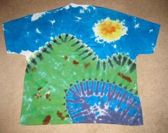 tie dye shirt, lake life, Colorado mountains, 3XL