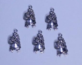 Santa Claus Charm, Silver Santa Claus Pendant, St Nicholas Charm, St Nick Charm, Christmas Charm