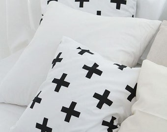 Modern Style Cross Pattern Cotton Fabric by Yard