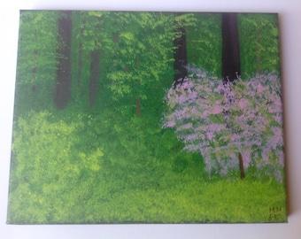 Woodland Spring 8 x 10 Original Acrylic Painting