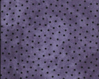45'' Maywood Studios Purple Polka Dots Woolies Flannel MASF 18506-V by the Yard