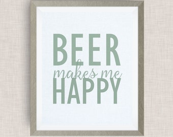 beer makes me happy, Option of Real Gold Foil