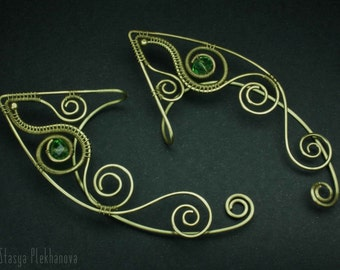 Elf ear cuffs, Wire wrapped ear cuffs, Elven ear cuffs, Wire ear cuffs