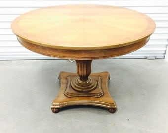 Vintage Hellam Furniture Co. Round Dining Room Table