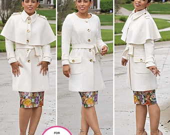 Simplicity Pattern 1016 Misses' / Women's Coat and Detachable Cape