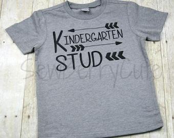 Kindergarten Shirt Kindergarten Stud Back to School Shirt Boys Kindergarten Shirt