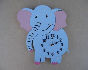 Wall Clock Baby Elephant  Baby's Room