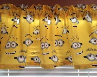 """Silly Minions Faces Valance ~ Bright Color ~ 58"""" wide"""