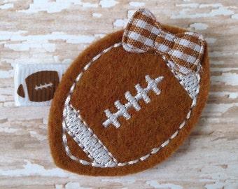 Football hair clip, Football hair bow,  hair clip, baby hair clip, toddler hair clip, hair accessories, hair bow, football