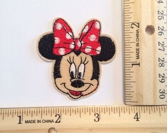 Red Minnie mouse iron on
