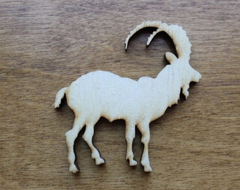 Large Billy Goat Wooden Cutouts - Shapes for Projects or Other Use