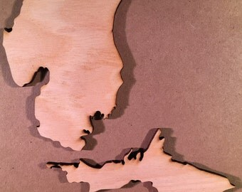 Michigan MI Wooden Cutouts - Large Sizes - Shapes for Projects or Other Use