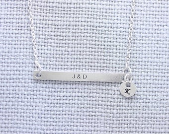 925 sterling silver name tag necklace,  your special necklace, bridemaid necklace, friendship necklace (PB_00021)