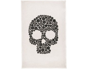 Skull Linen Tea Towel