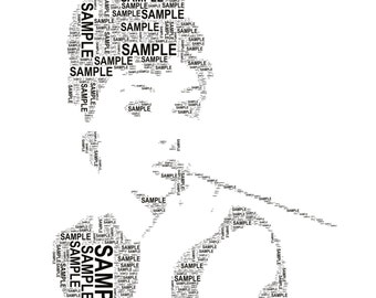Audrey hepburn gifts personalised word art print