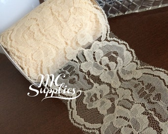 Ivory lace,craft lace,wide lace,lace for craft,sewing lace,lace trim,sewing trim,sewing lace trim,lace by the yard,wedding lace,lace ribbon