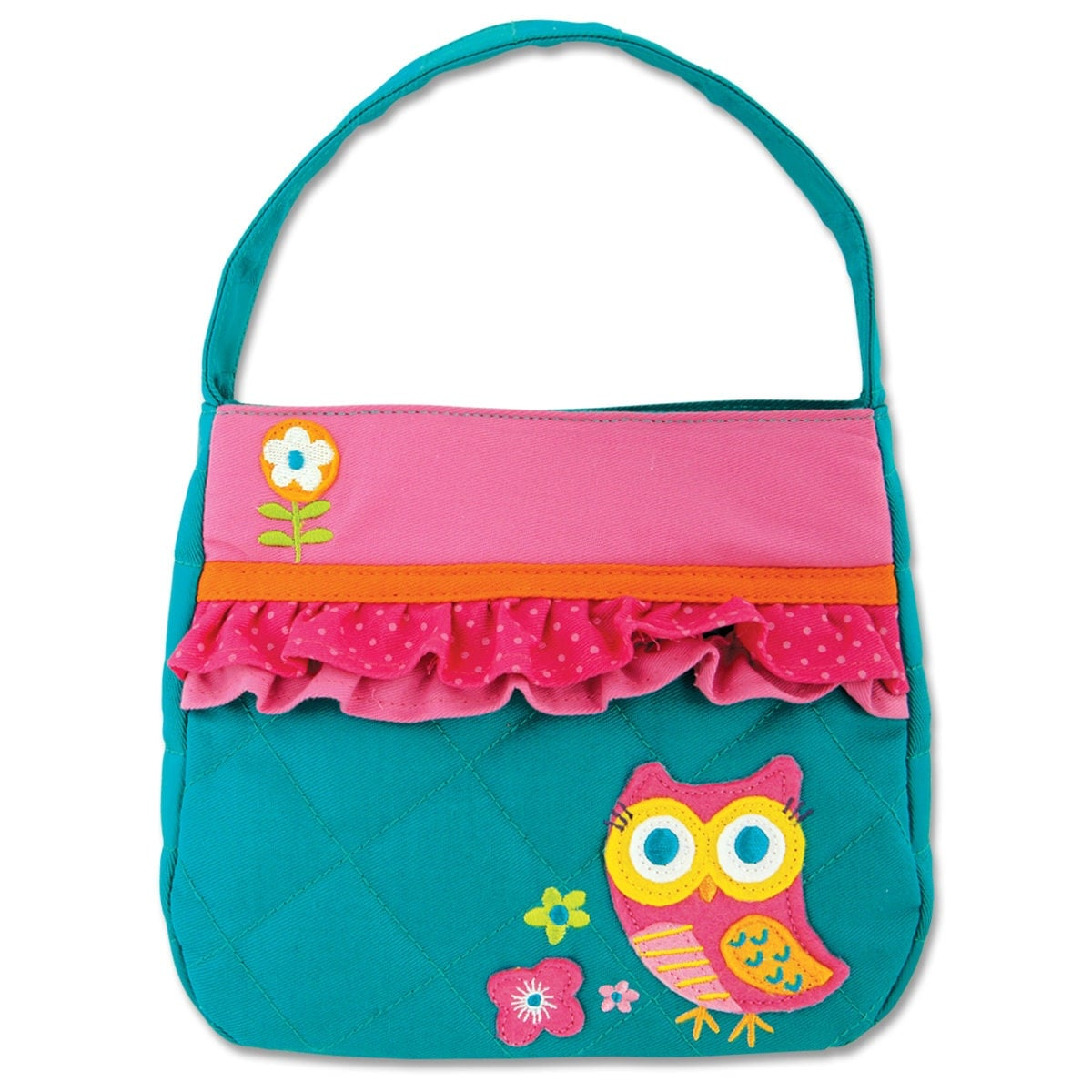 Stephen Joseph Quilted Owl Purse Personalized Little Girl