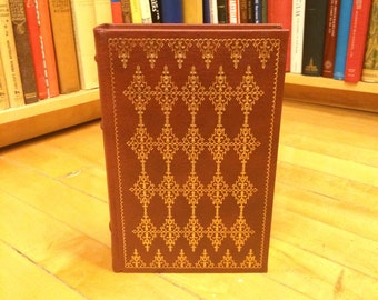 Pride and Prejudice by Jane Austen / Published 1980 / Franklin Library 100 Greatest Books / Vintage Leatherbound Book / Classic Literature