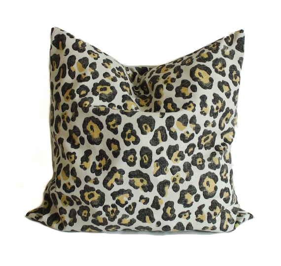 Leopard pillow 16x16 Pillow covers Animal print pillow