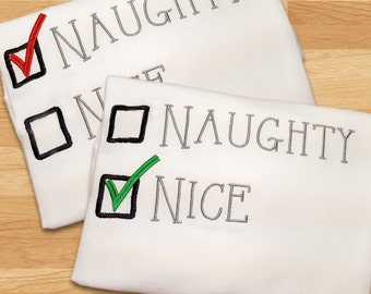 Naughty or Nice Embroidery Design