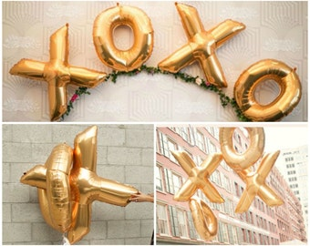 Xoxo 40 Inch Gold  Foil Balloon - Hey Bride - Wedding / Shower / Bachelorette Decor
