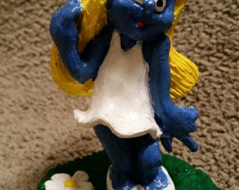resin smurfette character sculpted by me