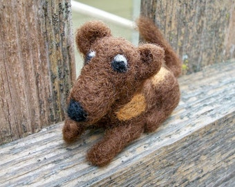 Needle Felted Mouse, Handmade Wool Mouse