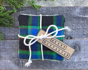 Plaid flannel hand warmers. Set of 2