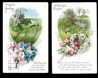 2 Ellen Clapsaddle 1922 Easter Postcards