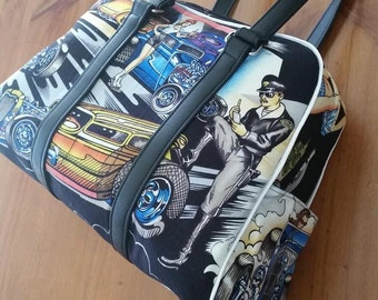 Vintage Style Hot Rod themed Handbag.