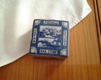 Antique Vantine's Porcelain nail stone box, circa 1900