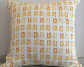 Orange Hamster Guinea Pig Cushion Cover