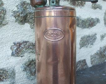 Vintage French Copper & Brass Horticultural / Plant Sprayer