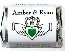Wedding Gift Bags Ireland : 120 Irish Claddagh WEDDING FAVORS Candy Wrappers ~ Free Shipping