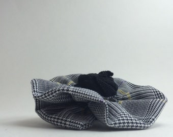 """School Uniform Plaid Flower Clip with Rosette Detail (Upcycled)- The """"Audrey"""" Standard AS SHOWN"""